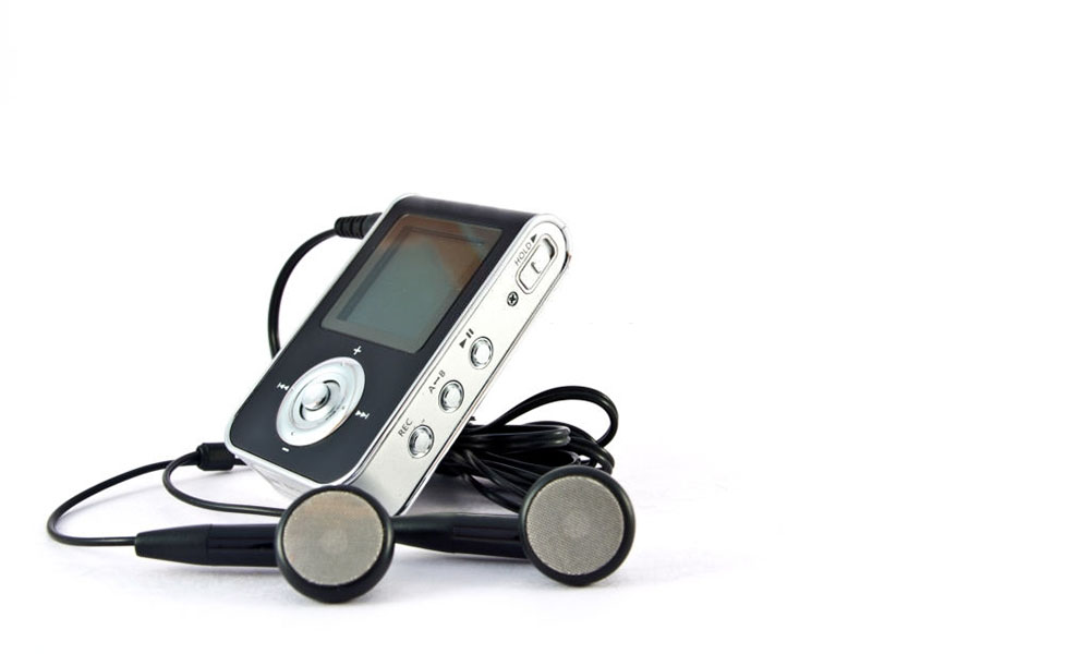 Portable Music Player With Speaker